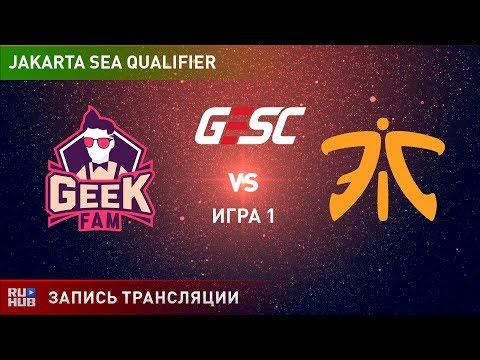 Geek Fam vs Fnatic, GESC SEA, game 1 [Lex, Smile]