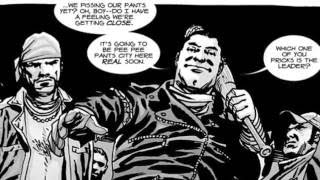 The Walking Dead: 6x16 (last day on earth) official uncensored Negan audio with comic book images