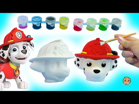 Painting A Dog Head – DIY Paw Patrol Marshall Pup + Cute Food Suncatcher – Craft Video