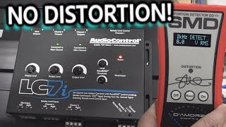 Add Amps not Distortion! AudioControl LC7i 6 Channel L.O.C. Hooked up, Gains Set, Played full tilt