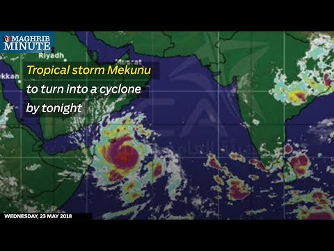 Tropical storm Mekunu to turn into a cyclone by tonight