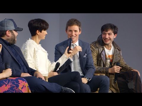Fantastic beasts and where to find them cast interview with eddie redmayne  ezra miller