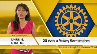 Programajánló / TV Szentendre / 2018.06.14.