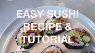 Easy Veggie Sushi Recipe | Hattie Lofthouse