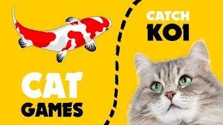 CAT GAMES ★ Catching FISH KOI 1 hour