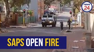 WATCH | Police open fire on residents in Yeoville, News24 caught in the line of fire