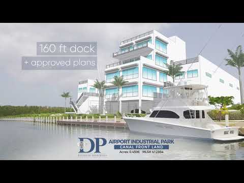 Airport Industrial Park Canal Front Land Video