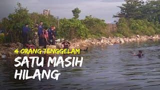 Empat Warga Makassar Tenggelam di Sungai, Dua Ditemukan Tewas dan Satu Masih Hilang