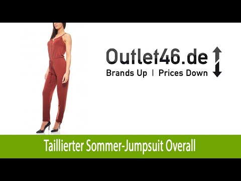 Taillierter Sommer-Jumpsuit Overall kaufen B.C. Best Connections Rostrot