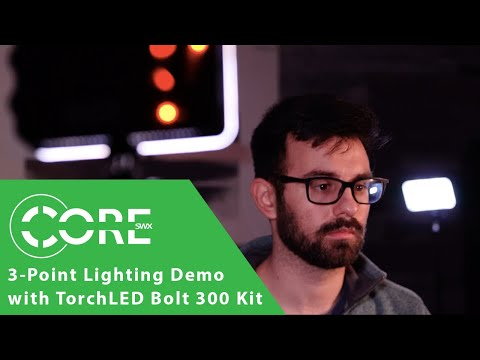 3-Point Lighting Demo with the TorchLED Bolt 300 Kit