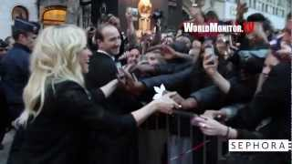 Shakira greets the fans launching her Fragrances at Sephora in Paris, France