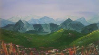 Смотреть онлайн Как нарисовать горный пейзаж гуашью поэтапно