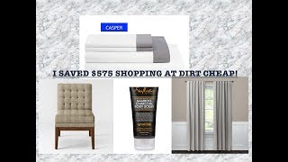 OMG I SAVED OVER $575 SHOPPING AT DIRT CHEAP! WOWZERS! |HOME DECOR HAUL