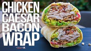 Chicken Caesar Salad Wrap | SAM THE COOKING GUY 4K