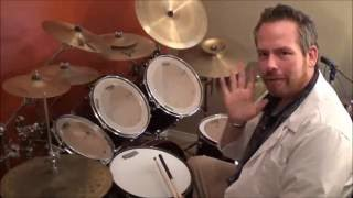 """Learn How To Play Drums """"Wipe Out"""" Surfaris"""