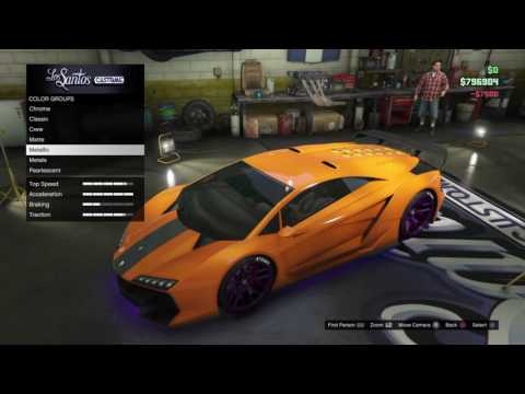 GTA 5 ONLINE - BUYING A 725,000 DOLLARS CAR! [PS4] GREAT COLOUR,BRILLIANT CAR!