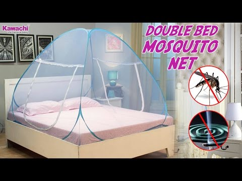 Kawachi Foldable Pop up Mosquito Net Tent useful for Home / Terrace / Outdoor Camping - Pink