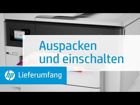 Auspacken und einschalten eines Druckers der HP OfficeJet Pro 7730, 7740 All-in-One Großformatdrucker-Serie