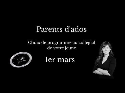 Pour les parents d'ados | 1er mars - L'admission au Cégep et le...