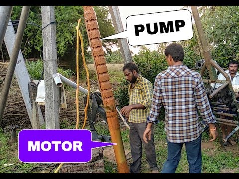 Borewell motor Pulling | 15 hp Borewell motor lifting | borewell motor removal | Indian tools | 15hp