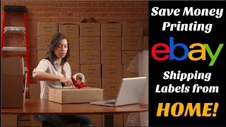 How to Print an eBay Shipping Label From Home and Save Money