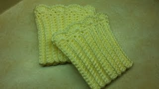 Crochet Quick And Easy Boot Cuffs #TUTORIAL #149 Bagoday Crochet
