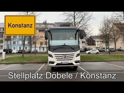 Stellplatz Döbele / Konstanz - unschön, laut aber praktisch !
