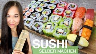 REZEPT: Sushi selber machen | Maki | Nigiri | Inside Out | California Roll | Sushi Reis zubereiten