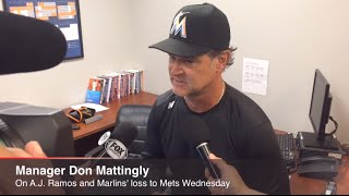 Don Mattingly on A.J. Ramos, Marlins' Loss to Mets Wednesday