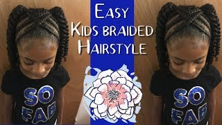 Easy Kids Braided Hairstyle