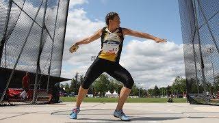 Saint-Etienne 2019 : Finale Disque F (Mélina Robert-Michon avec 60,55 m)