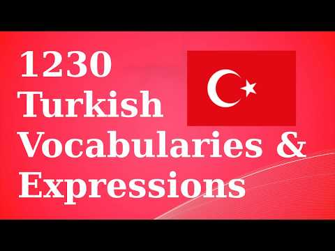 1230 Basic Turkish Vocab & Expressions