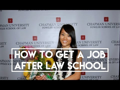 Tips for Getting a Job After Law School