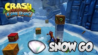 "Crash Bandicoot 2 - ""Snow Go"" 100% Clear Gem and All Boxes (PS4 N Sane Trilogy)"