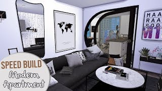 The Sims 4 Speed Build | MODERN APARTMENT + CC Links