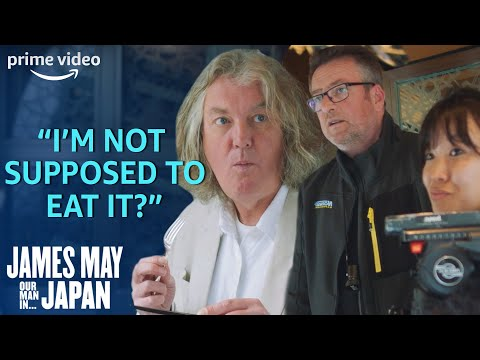 James May accidentally eats a meal meant for other reporters to film too.
