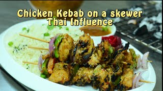 Chicken Kebab with Thai Masalas on a Skewer