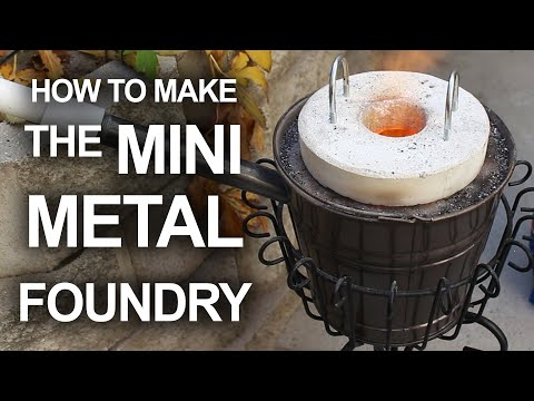 Make A Mini Foundry That Can Melt Soft Drink Cans