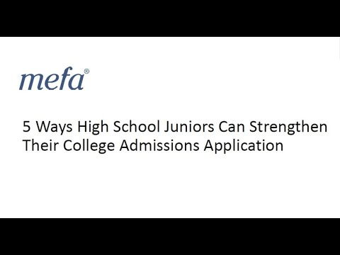 5 Ways High School Juniors Can Strengthen Their College Admissions Application