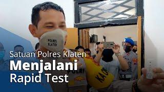 Reaksi Kapolres Klaten usai Melihat Hasil Rapidnya Non-reaktif Covid-19: Dari Awal Yakin Saya Sehat