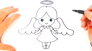 How To Draw A Angel For Kids | Angel Easy Draw Tutorial