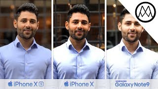 Apple iPhone XS vs Apple iPhone X vs Samsung Galaxy Note9 Camera TEST
