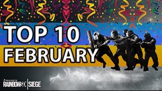 [ENGLISH] RAINBOW SIX SIEGE - TOP10 Plays of February (2017)