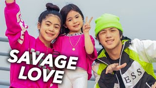 """Back to a new dance video on the rooftop! here's our dance to jason derulo and jawsh 685s viral tiktok song """"Savage Love"""" watch till the end for a surprise!  baby sister natalia: https://www.facebook.com/onewithnatalia/ https://www.instagram.com/onewithnatalia  stalk us on ig: https://www.instagram.com/ranzkyle https://www.instagram.com/nianaguerrero https://www.instagram.com/ranzandniana  facebook: https://www.facebook.com/RanzAndNiana https://www.facebook.com/nianaguerrero https://www.facebook.com/ranzkyle/   tiktok: @ranznandniana twitter: @ranzkyle & @nianaguerrero"""
