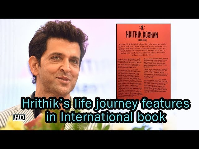 Hrithik's BIGESST RECOGNITION, his life features in International book