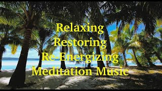 5 Hours~Ocean Waves~Palm Trees~Relaxing~Restoring~Re-Energizing~Meditation~Spa Music. 432Hz.