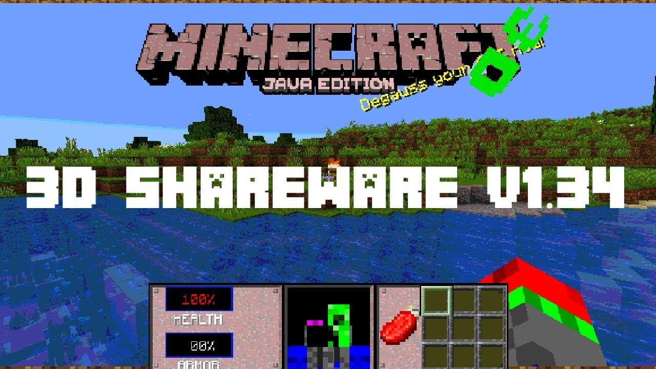 Как установить Minecraft 3D Shareware v1.34