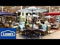 LOWE'S PATIO FURNITURE CHAIRS SOFAS COUCHES HOME DECOR SHOP WITH ME SHOPPING STORE WALK THROUGH