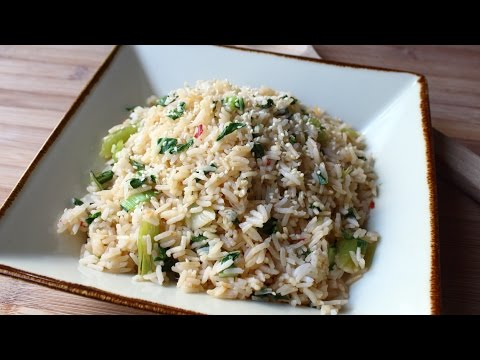 Bok Choy Rice – Easy Bok Choy Steamed Rice Recipe