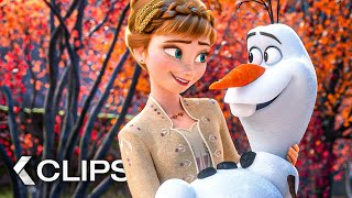 All Official Frozen 2 Movie Clips & Trailers 2019 | Subscribe ➤ http://abo.yt/ki | Idina Menzel Movie Trailer | Release: 22 Nov 2019 | More https://KinoCheck.com/film/1ns/frozen-2-2019 Anna, Elsa, Kristoff, Olaf and Sven leave Arendelle to travel to an ancient, autumn-bound forest of an enchanted land. They set out to find the origin of Elsa's powers in order to save their kingdom.  Frozen 2 (2019) is the new animation movie starring Idina Menzel, Kristen Bell and Josh Gad.  Note | #Frozen2 #Compilation courtesy of Walt Disney Company. | All Rights Reserved. | #KinoCheck®
